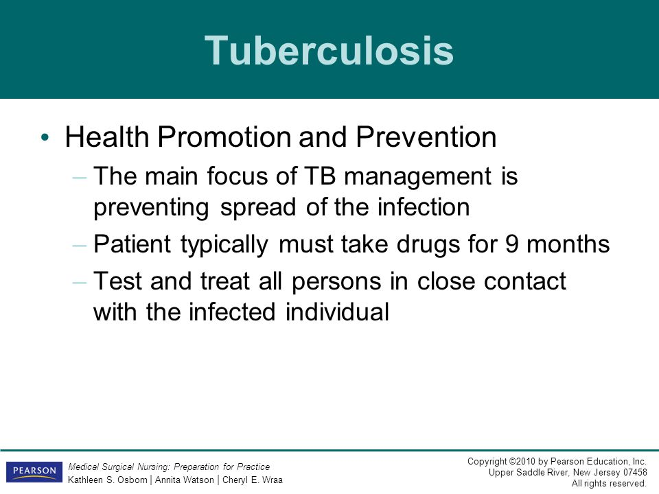 Tuberculosis Health Promotion and Prevention