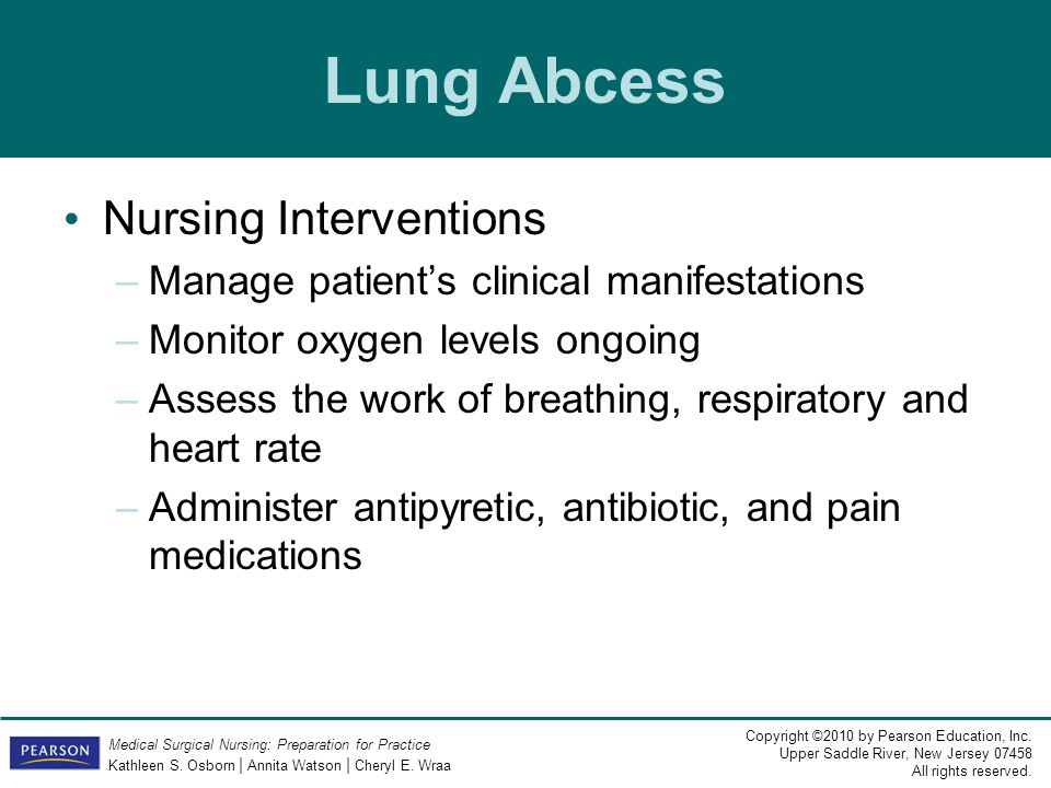 Lung Abcess Nursing Interventions