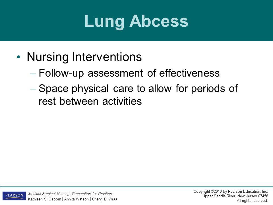 Lung Abcess Nursing Interventions