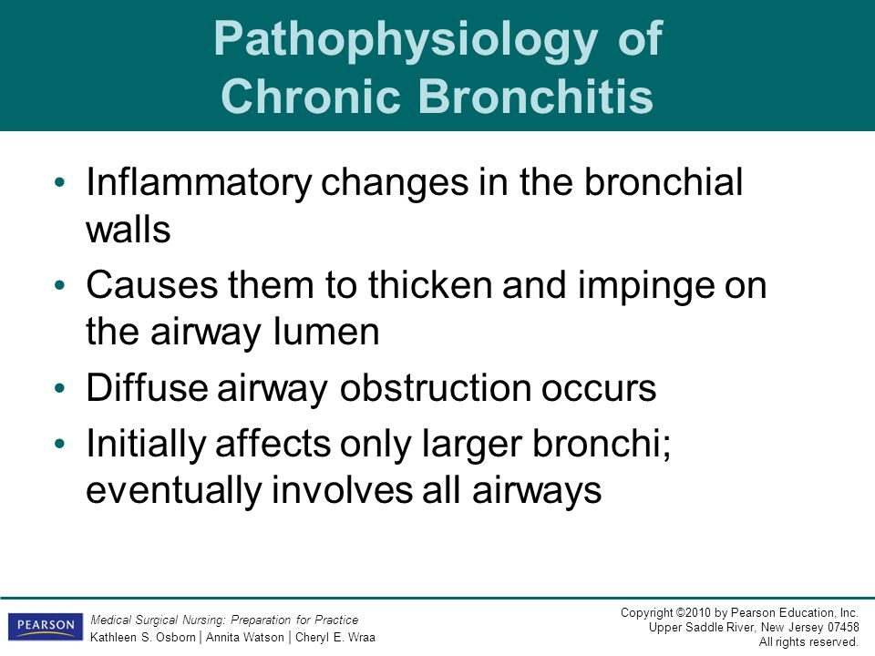 Pathophysiology of Chronic Bronchitis