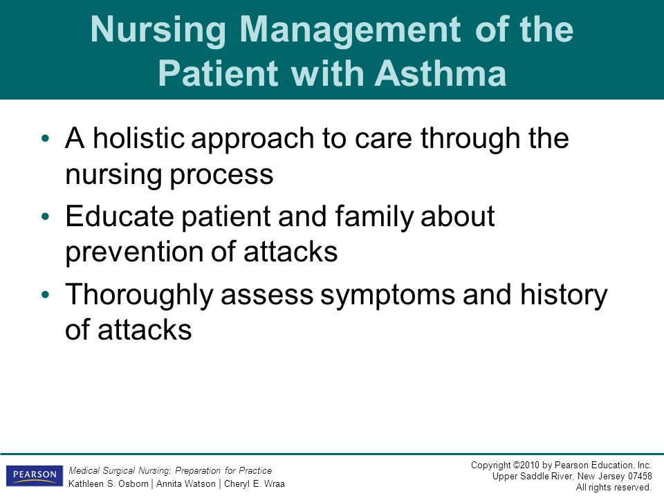 Nursing Management of the Patient with Asthma