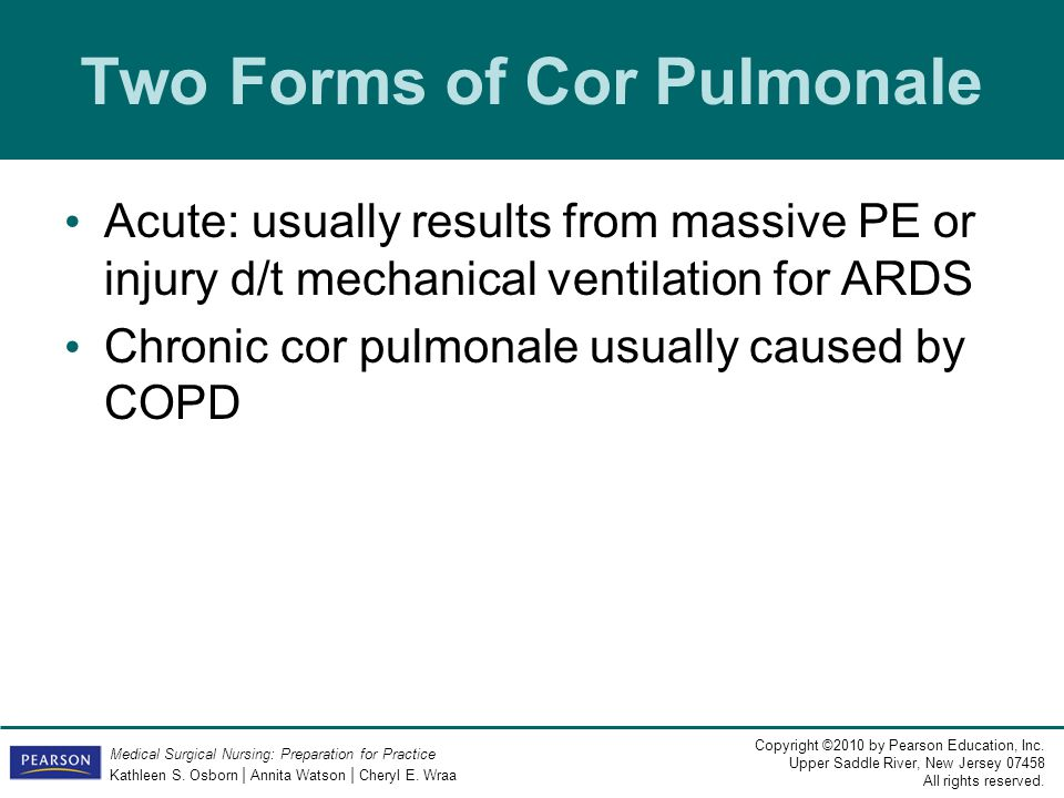Two Forms of Cor Pulmonale