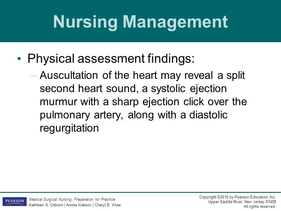 Nursing Management Physical assessment findings: