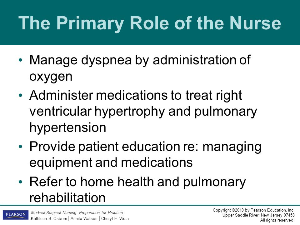 The Primary Role of the Nurse