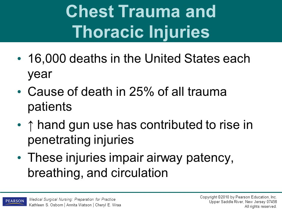 Chest Trauma and Thoracic Injuries