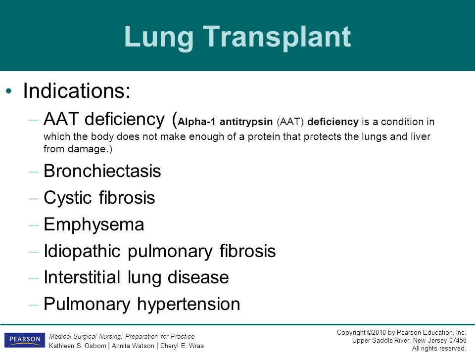 Lung Transplant Indications: