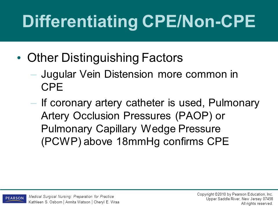 Differentiating CPE/Non-CPE