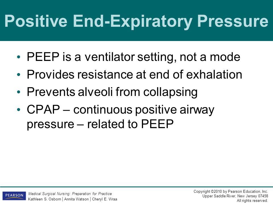 Positive End-Expiratory Pressure