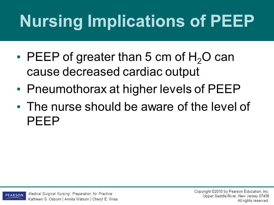Nursing Implications of PEEP