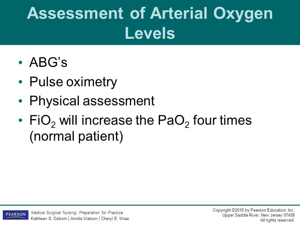 Assessment of Arterial Oxygen Levels