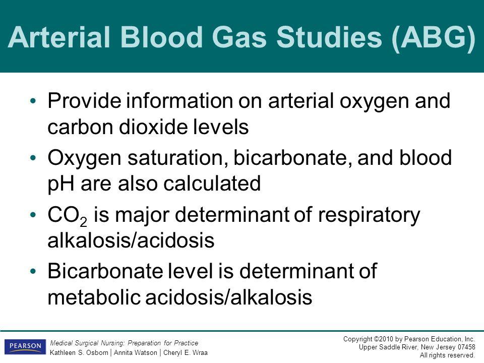 Arterial Blood Gas Studies (ABG)