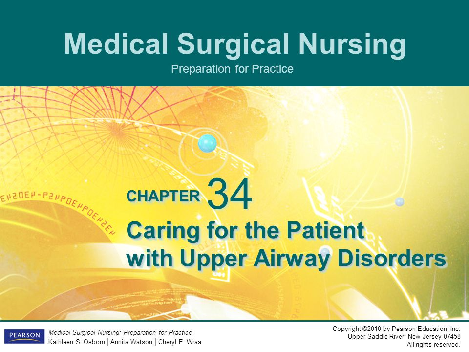Caring for the Patient with Upper Airway Disorders