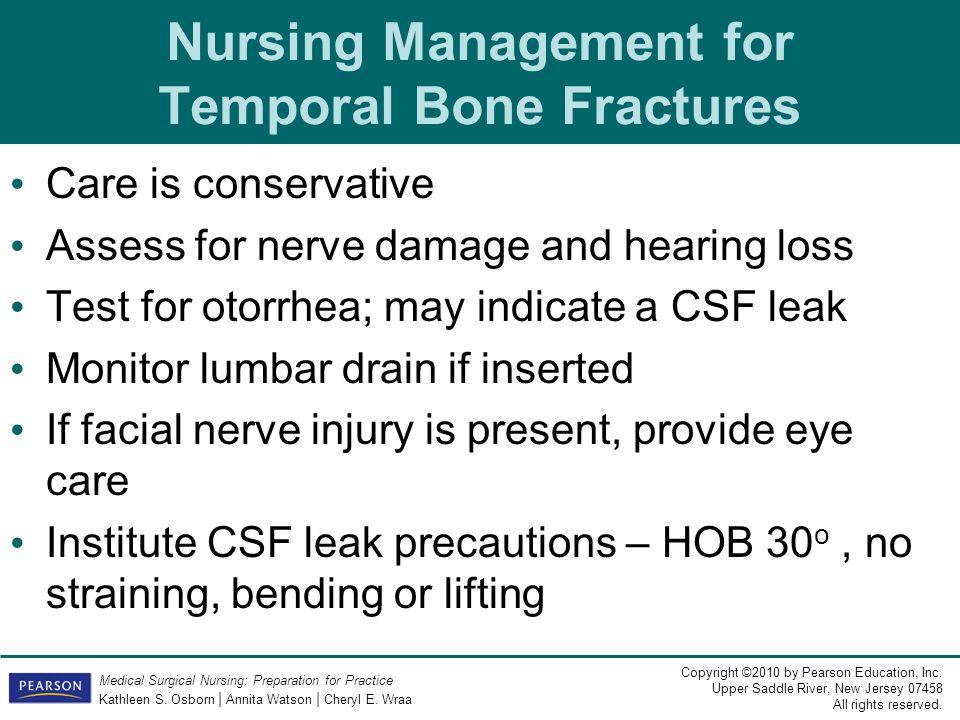 Nursing Management for Temporal Bone Fractures