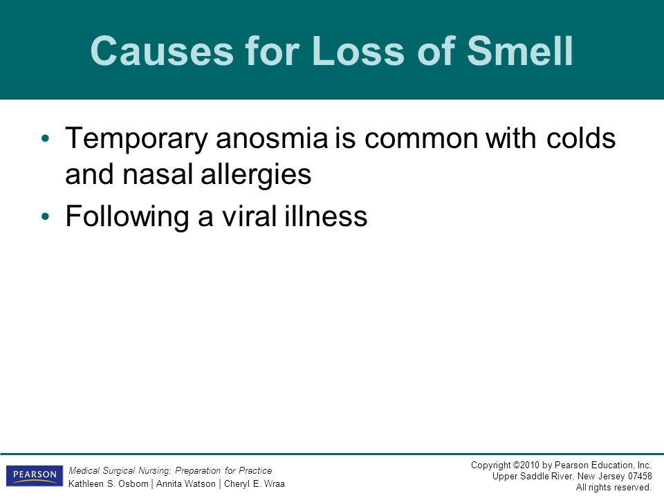 Causes for Loss of Smell