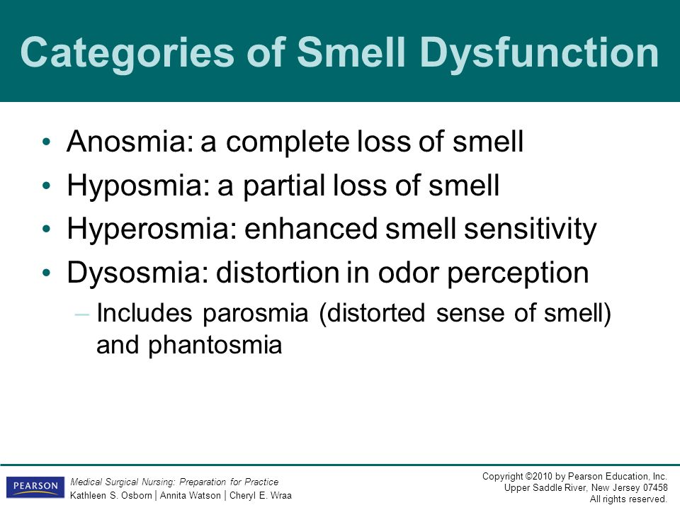 Categories of Smell Dysfunction