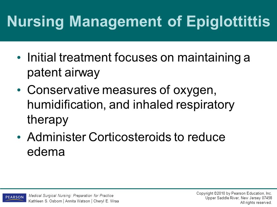 Nursing Management of Epiglottittis
