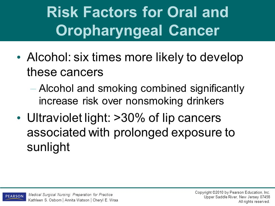 Risk Factors for Oral and Oropharyngeal Cancer