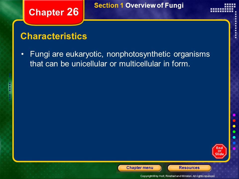 Chapter 26 Characteristics