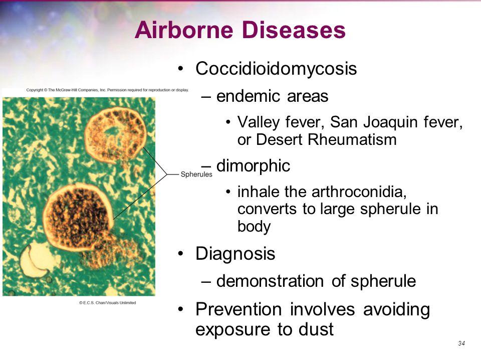 Airborne Diseases Coccidioidomycosis Diagnosis