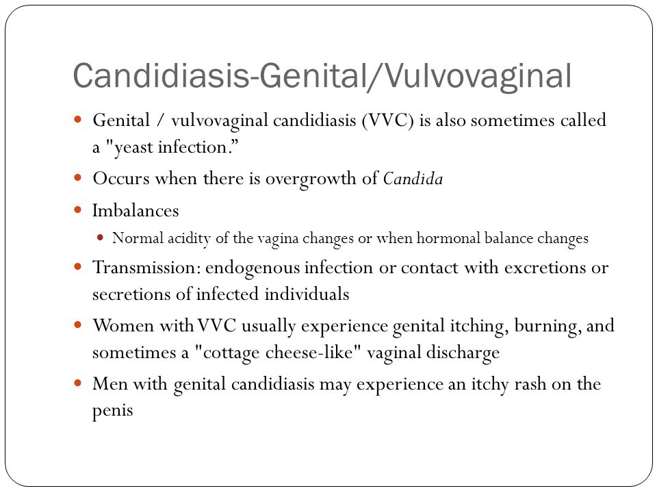 Candidiasis-Genital/Vulvovaginal