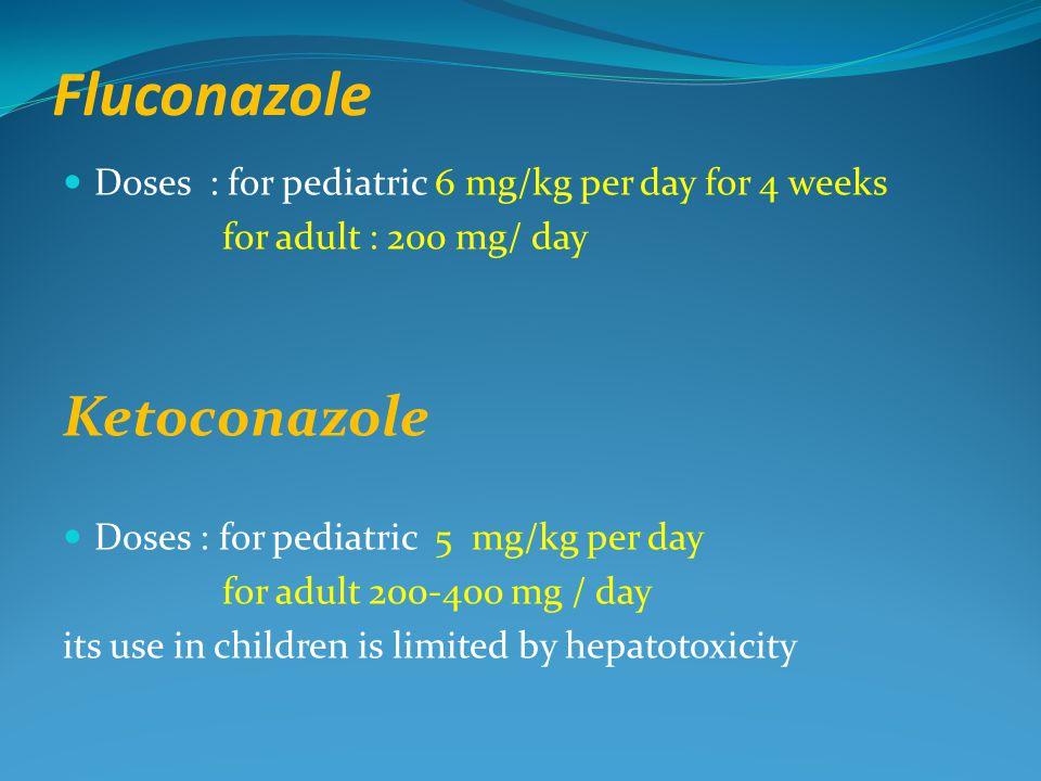 Fluconazole Ketoconazole