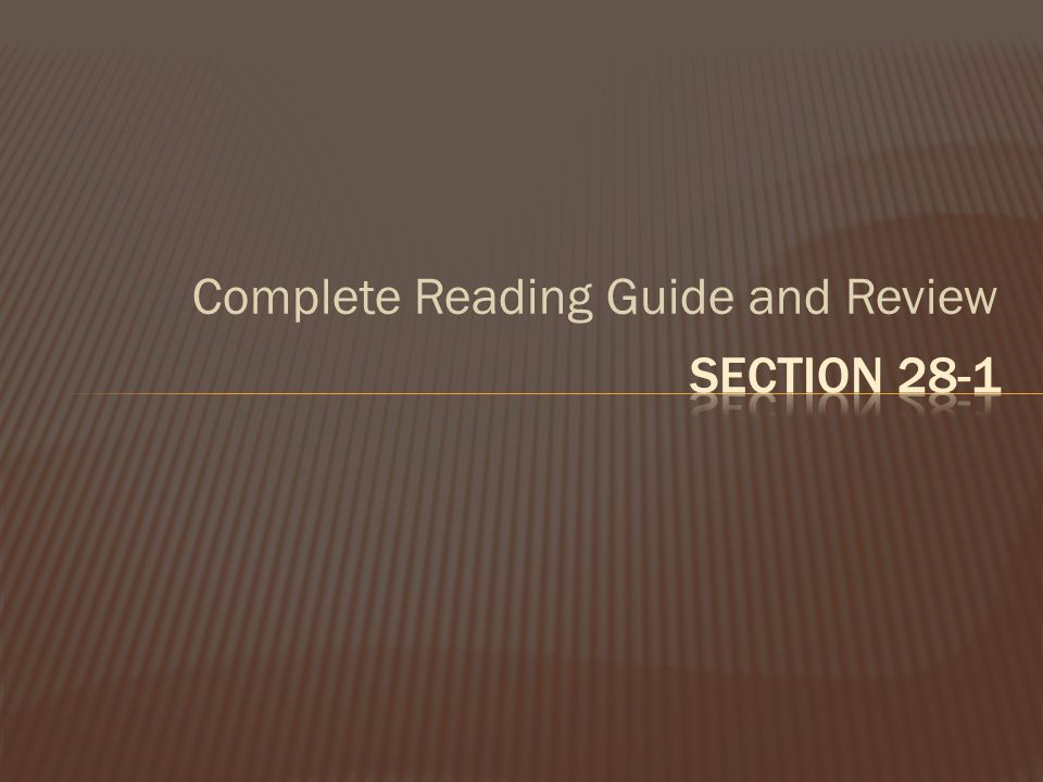 Complete Reading Guide and Review