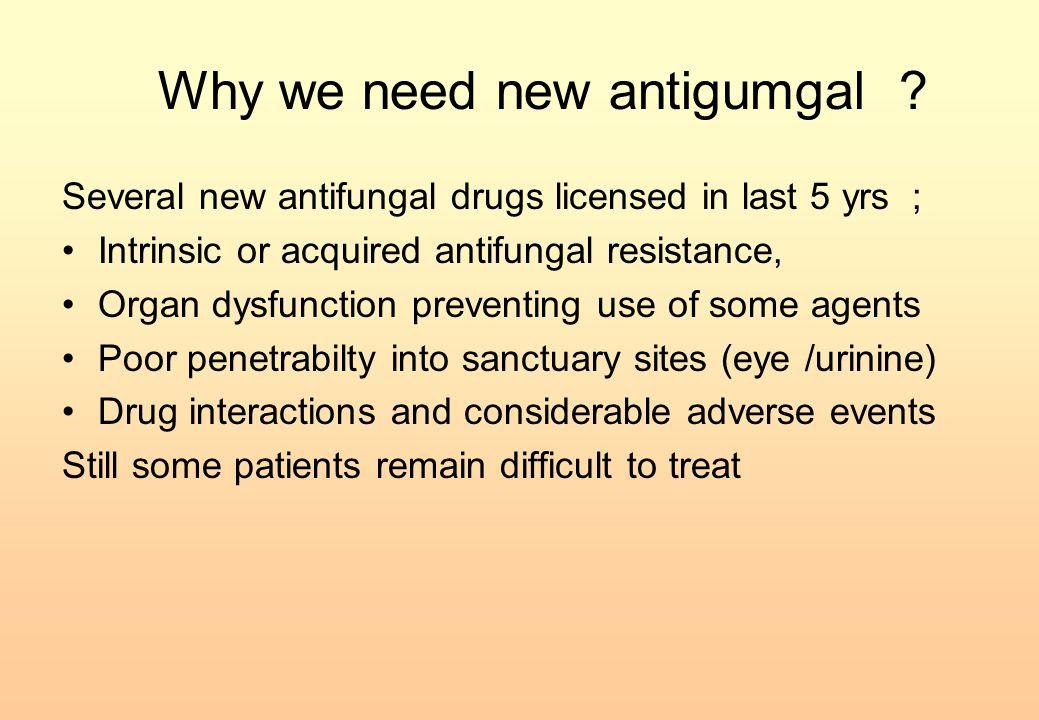 Why we need new antigumgal