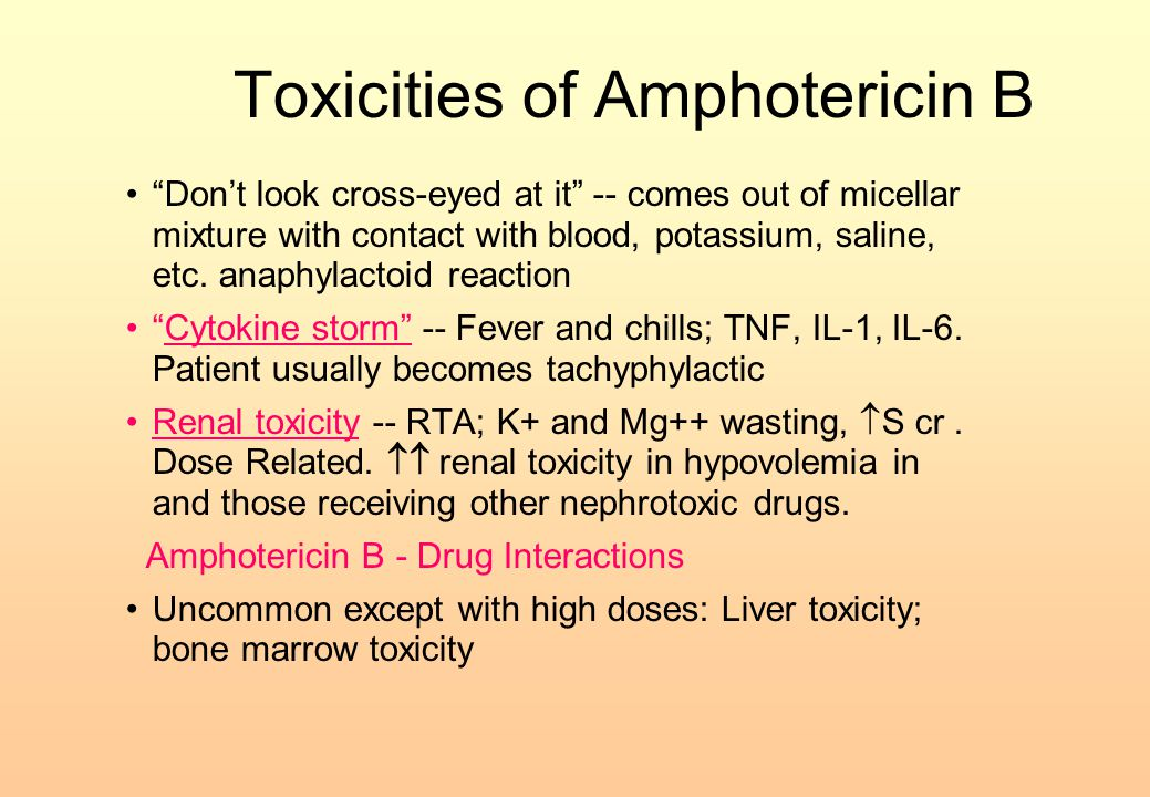 Toxicities of Amphotericin B