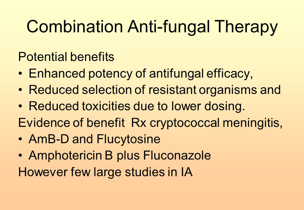 Combination Anti-fungal Therapy