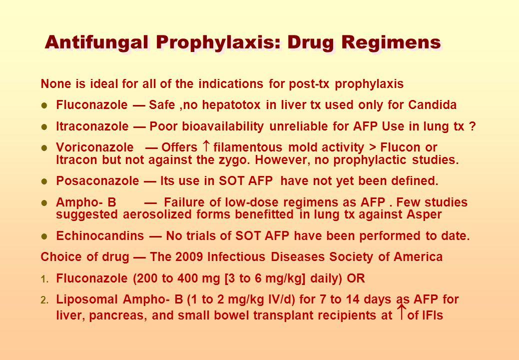 Antifungal Prophylaxis: Drug Regimens