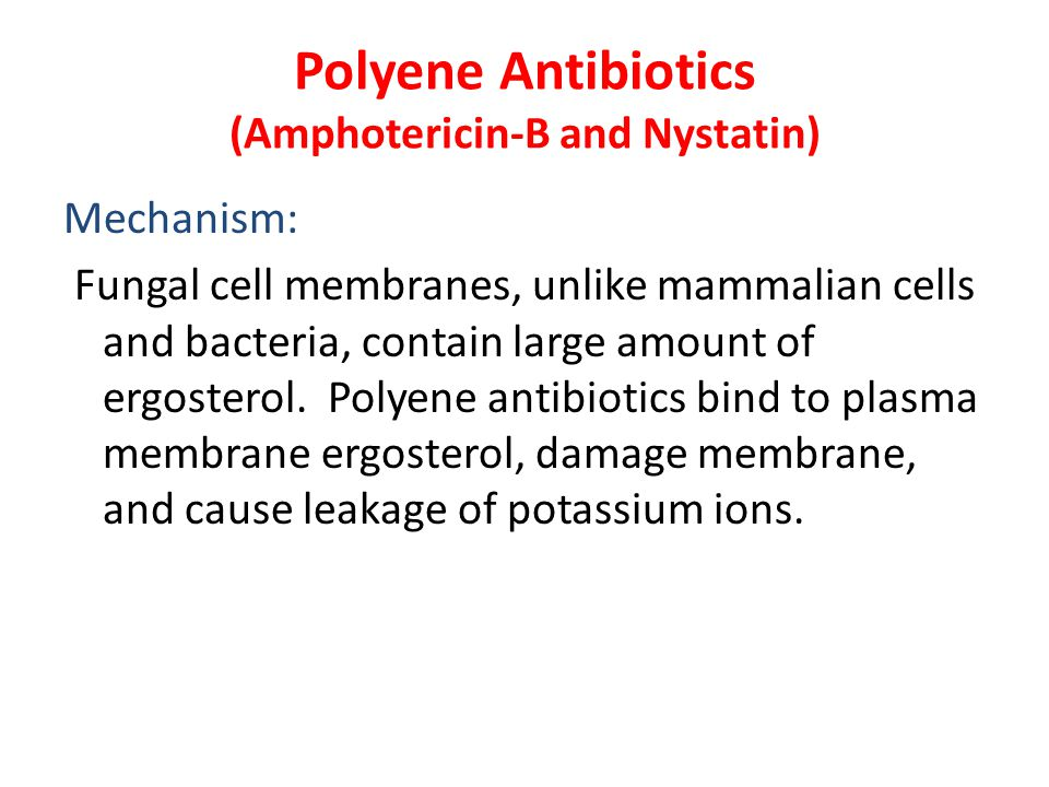 Polyene Antibiotics (Amphotericin-B and Nystatin)