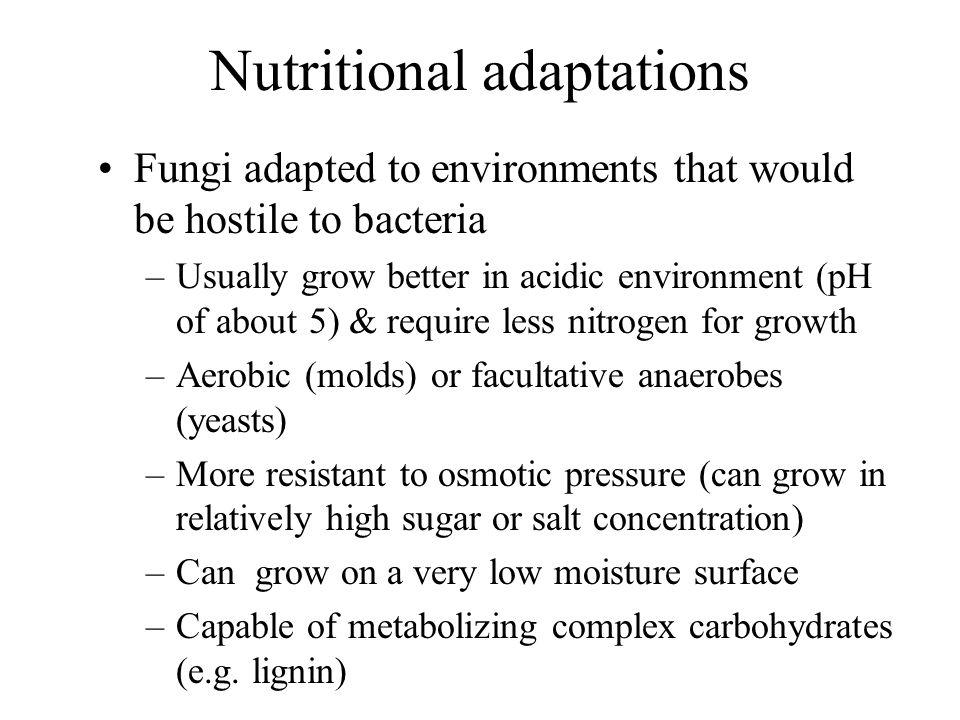 Nutritional adaptations