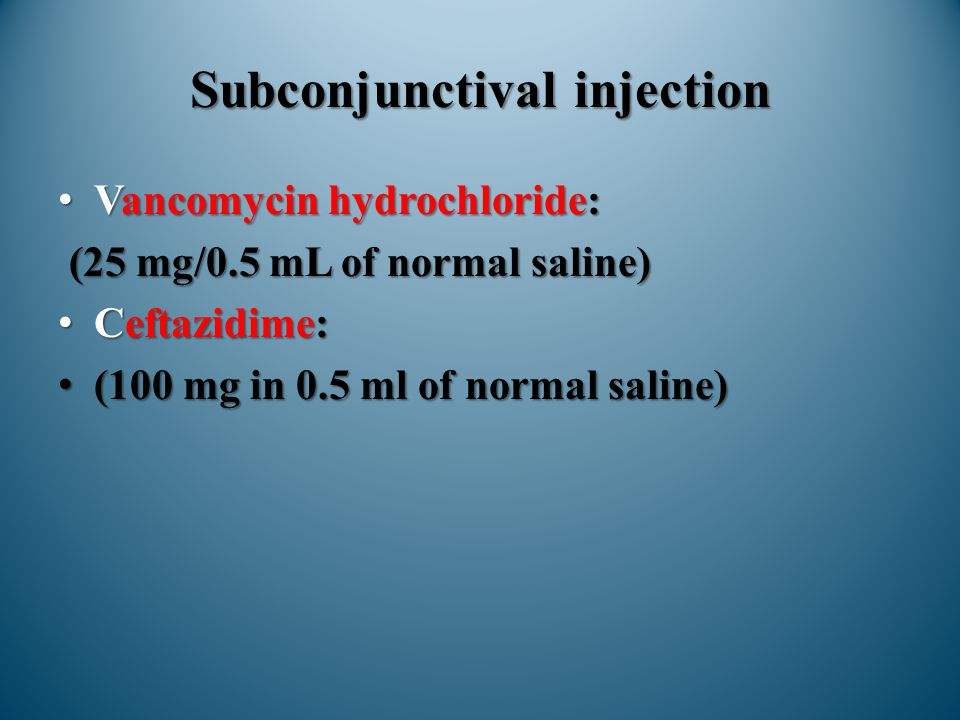 Subconjunctival injection