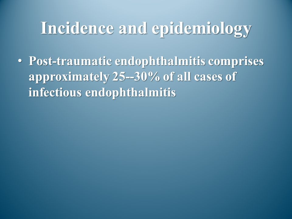 Incidence and epidemiology