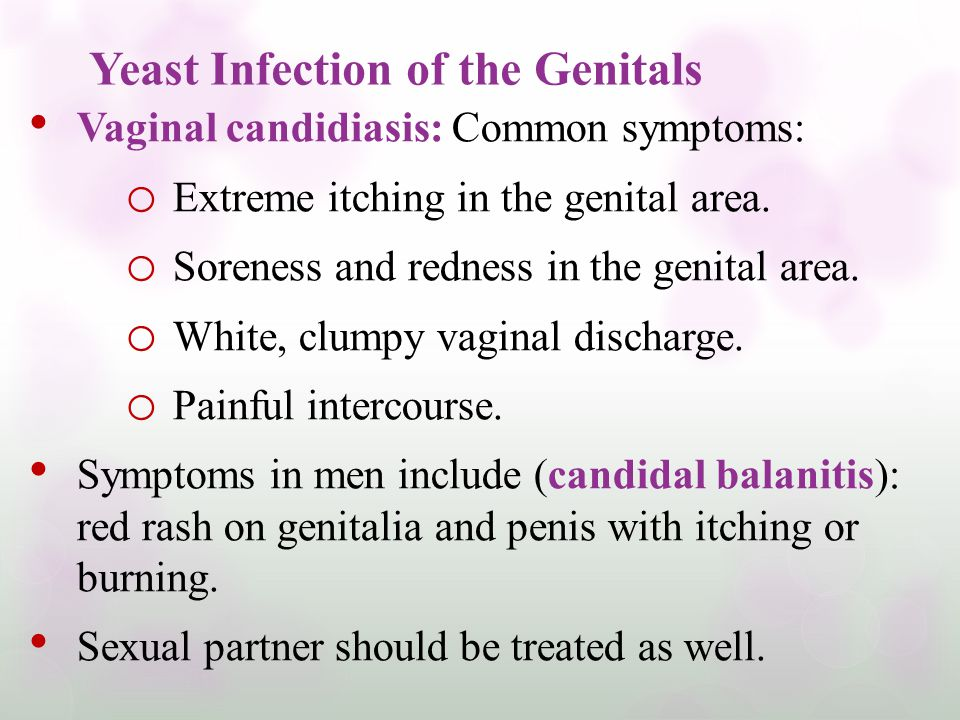 Yeast Infection of the Genitals