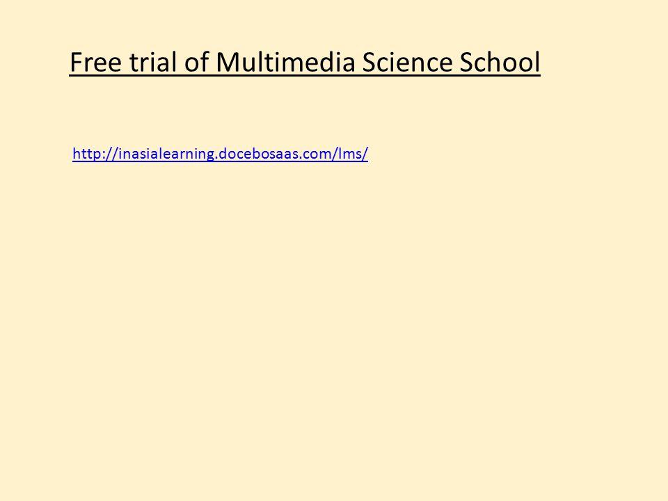 Free trial of Multimedia Science School