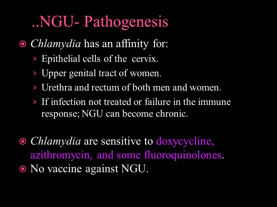 ..NGU- Pathogenesis Chlamydia has an affinity for: