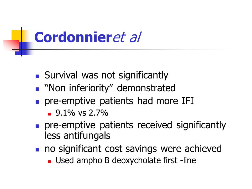 Cordonnieret al Survival was not significantly