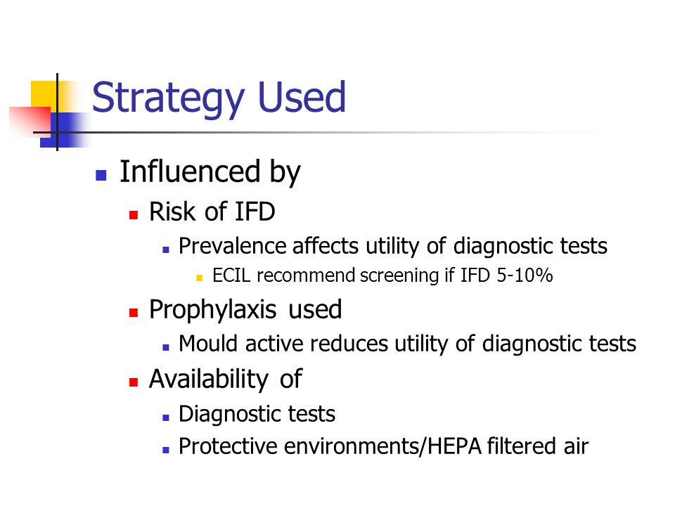 Strategy Used Influenced by Risk of IFD Prophylaxis used