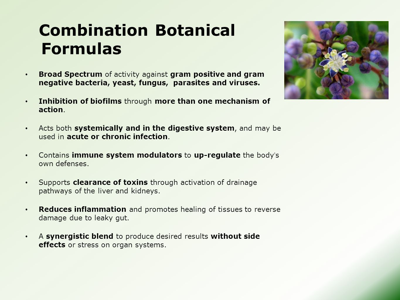 Combination Botanical Formulas