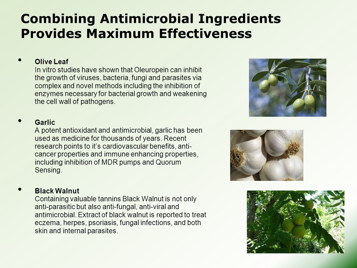 Combining Antimicrobial Ingredients Provides Maximum Effectiveness