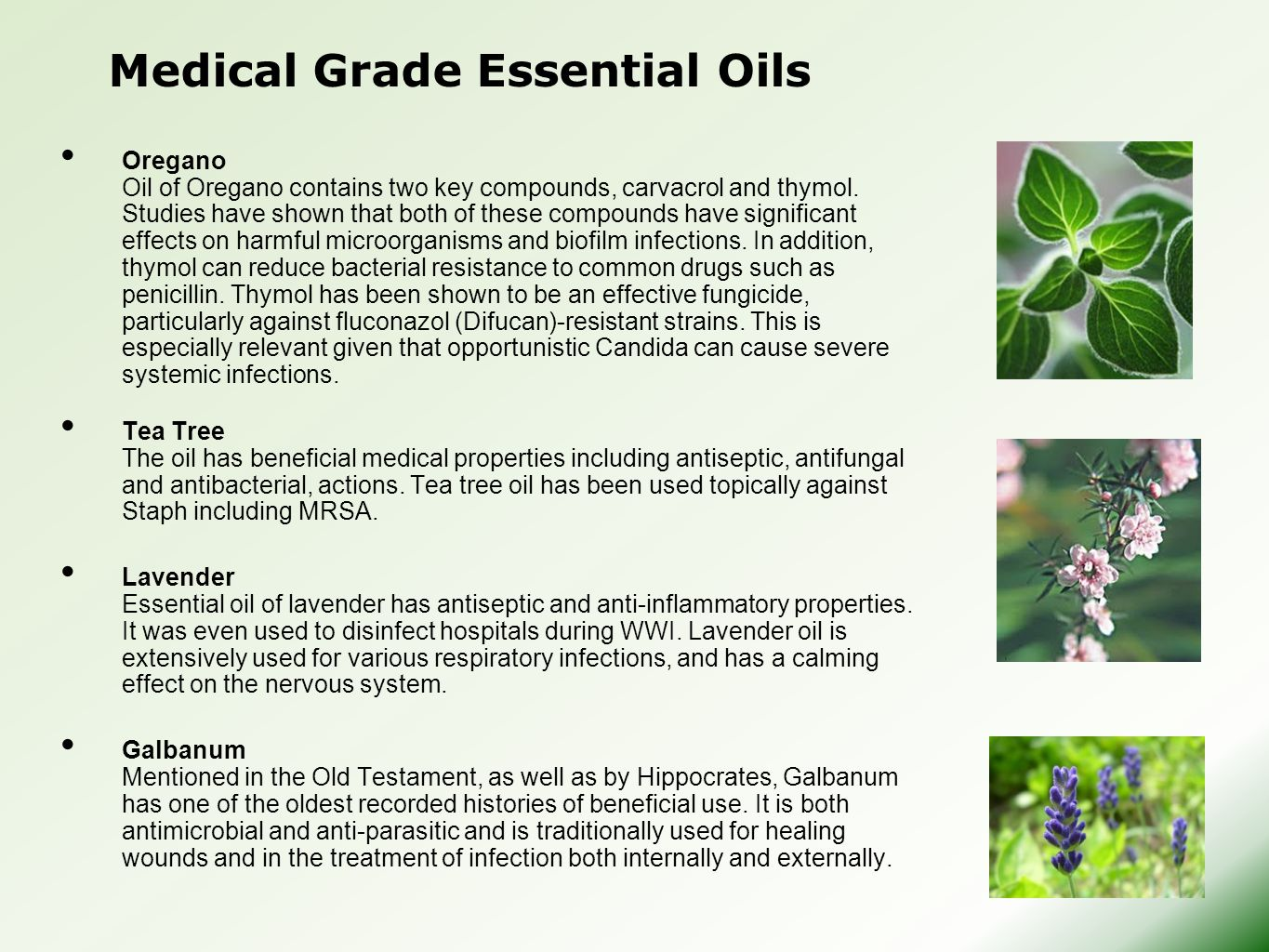 Medical Grade Essential Oils