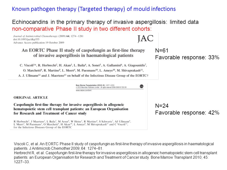 Known pathogen therapy (Targeted therapy) of mould infections