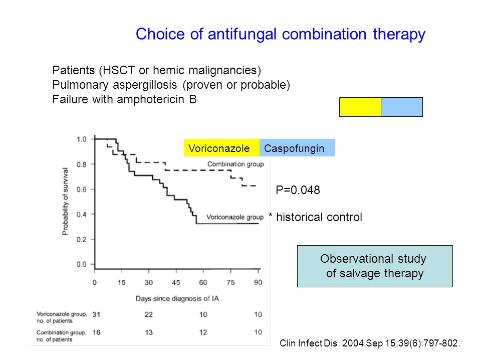Choice of antifungal combination therapy