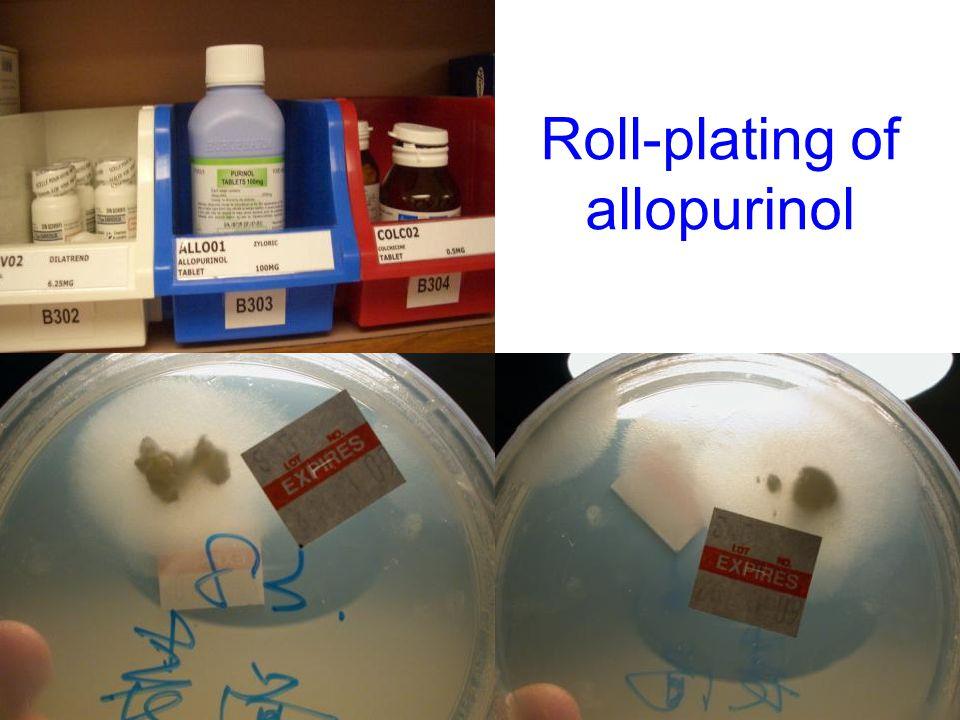 Roll-plating of allopurinol