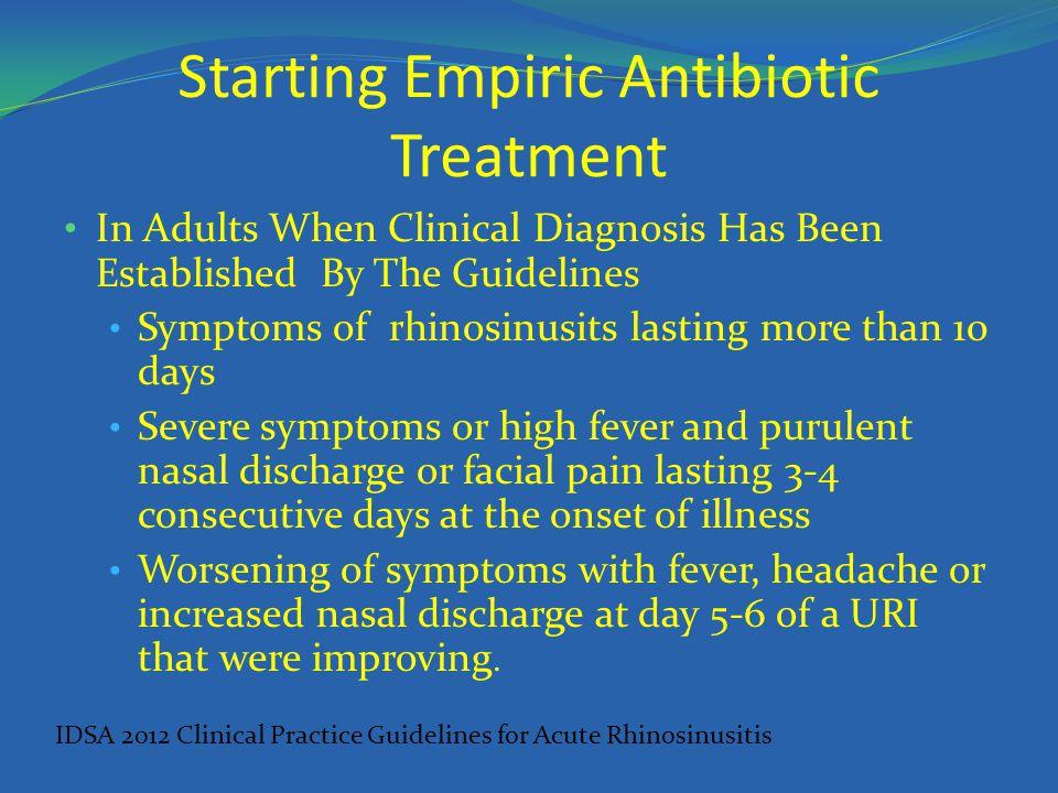 Starting Empiric Antibiotic Treatment