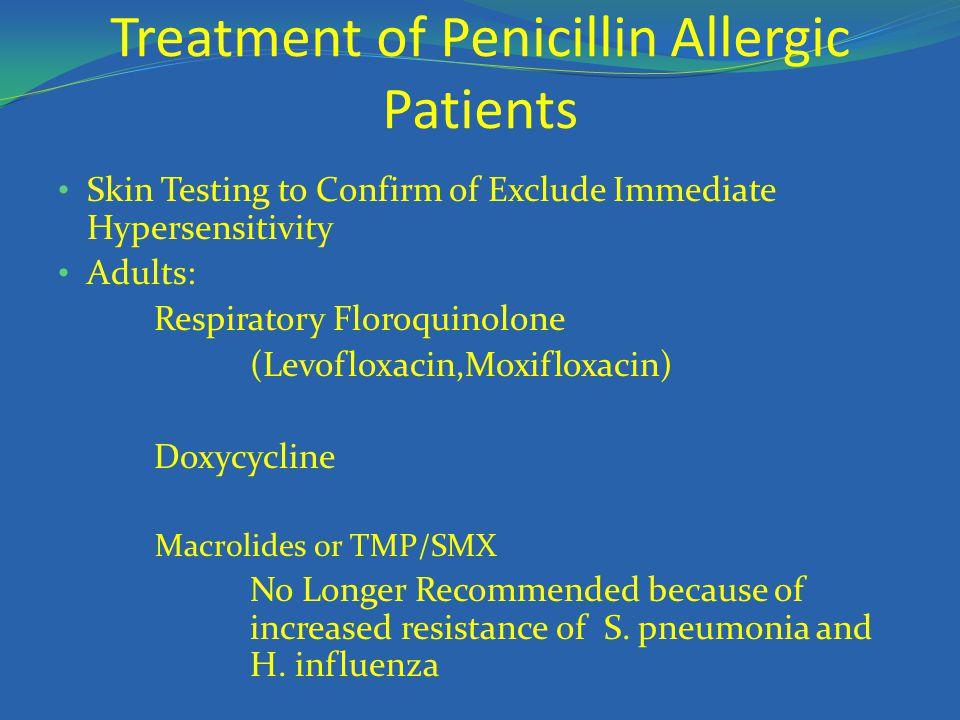 Treatment of Penicillin Allergic Patients