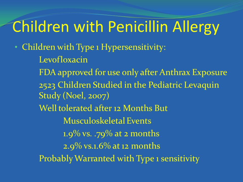 Children with Penicillin Allergy