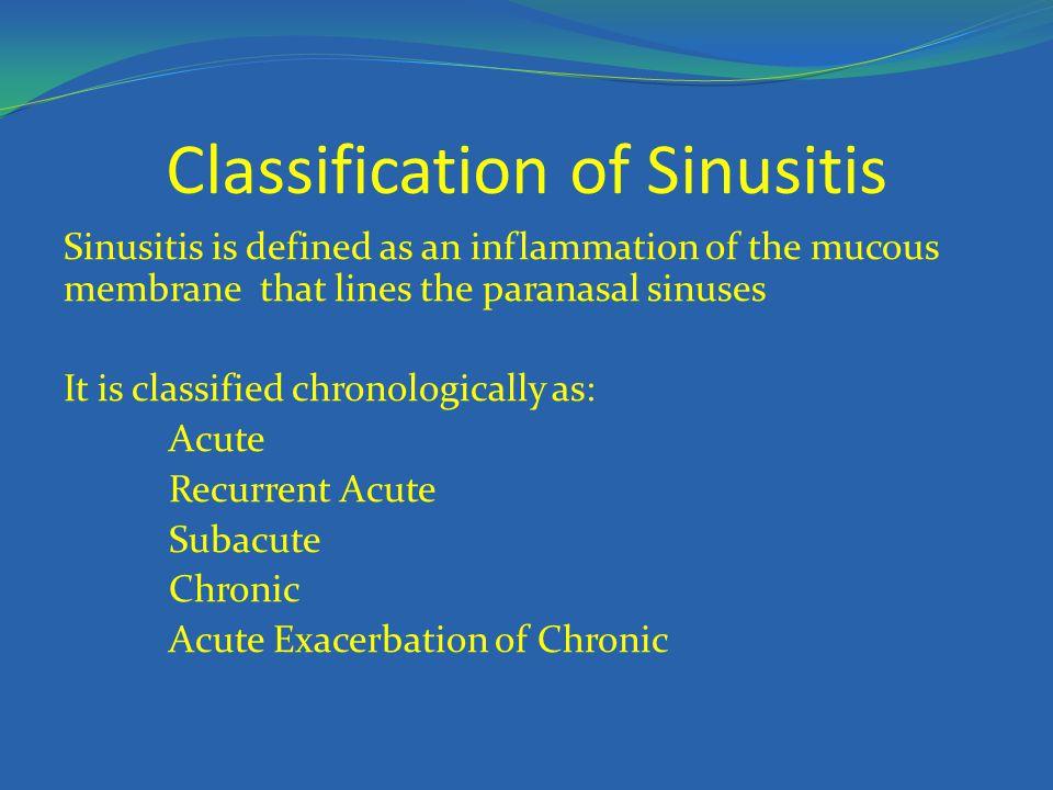 Classification of Sinusitis