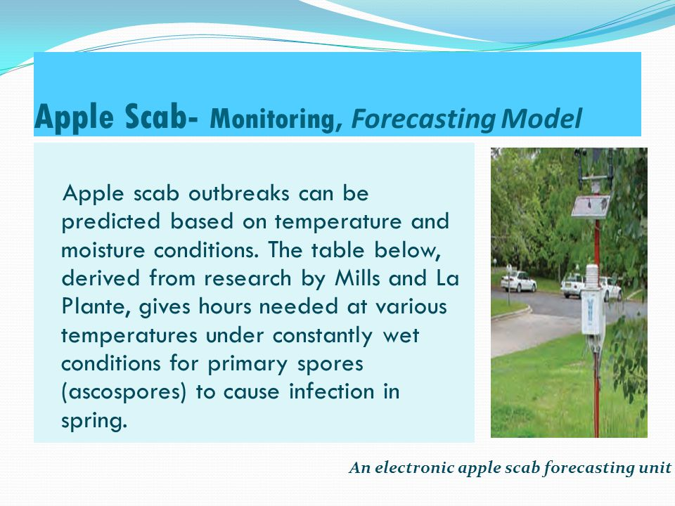 Apple Scab- Monitoring, Forecasting Model